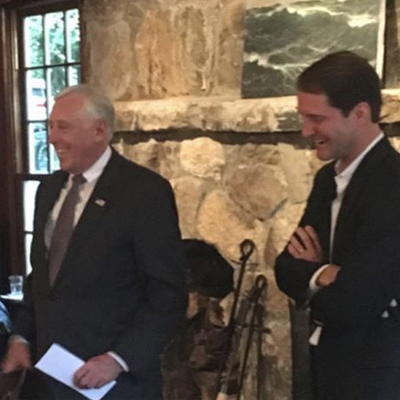 Hoyer campaigning with my good friend, Congressman Jim Himes