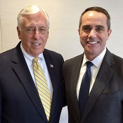 Hoyer stands with State Representative and candidate for PA-08, Steve Santarsiero